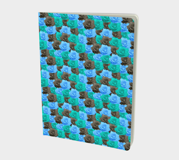 Blue Roses Notebook