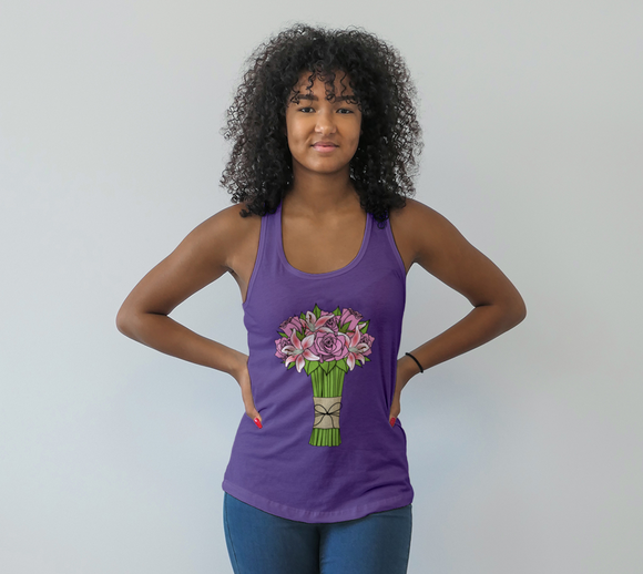 Bouquet of Flowers Racerback Tank Top