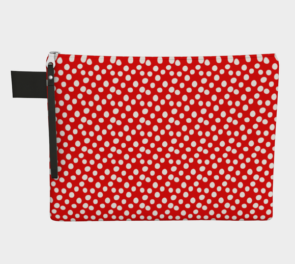 All About the Dots Pouch - Red