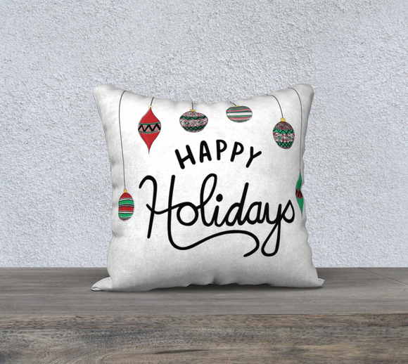 Happy Holidays Pillow Case - 18