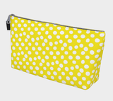 All About the Dots Makeup Bag - Yellow