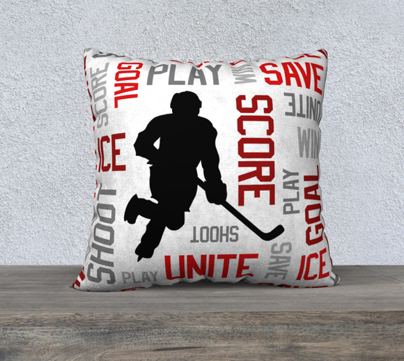 For the Love of Hockey Pillow Case - 22