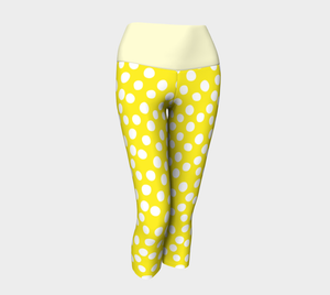 All About the Dots Yoga Capris - Yellow