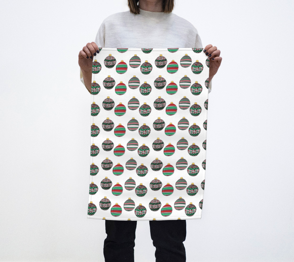Happy Holidays Tea Towel