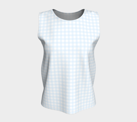 Gingham Loose Tank Top (Long)