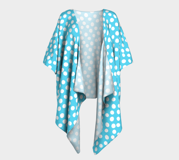 All About the Dots Draped Kimono - Blue
