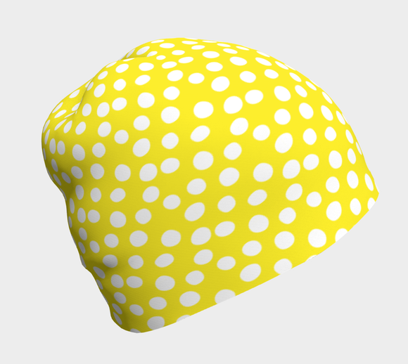 All About the Dots Beanie - Yellow