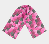 Pink Roses Long Scarf