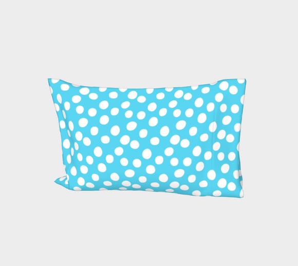 All About the Dots Bed Pillow Sleeve - Blue