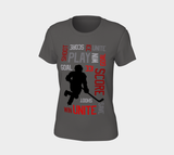For the Love of Hockey Womens Fitted Tee - Red