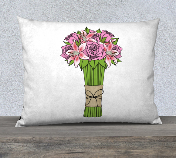 Bouquet of Flowers Pillow Case - 26