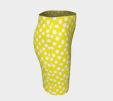 All About the Dots Fitted Skirt - Yellow