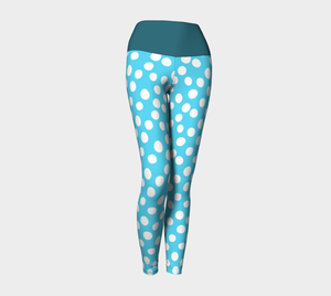 All About the Dots Yoga Leggings - Blue