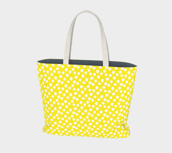 All About the Dots Market Tote - Yellow