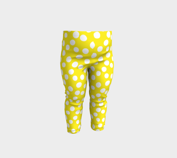 All About the Dots Baby Leggings - Yellow