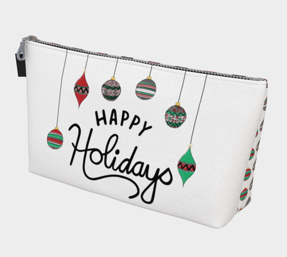 Happy Holidays Makeup Bag