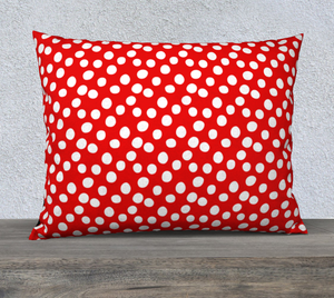 "All About the Dots Pillow Case - 26""x20"" Red"