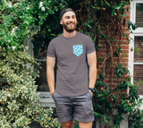 All About the Dots Pocket Unisex Tee - Blue