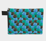 Blue Roses Pouch