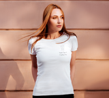 Pumpkin Spice & Everything Nice Women's Fitted Tee - Small Image