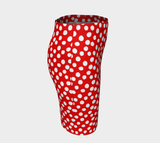 All About the Dots Fitted Skirt - Red