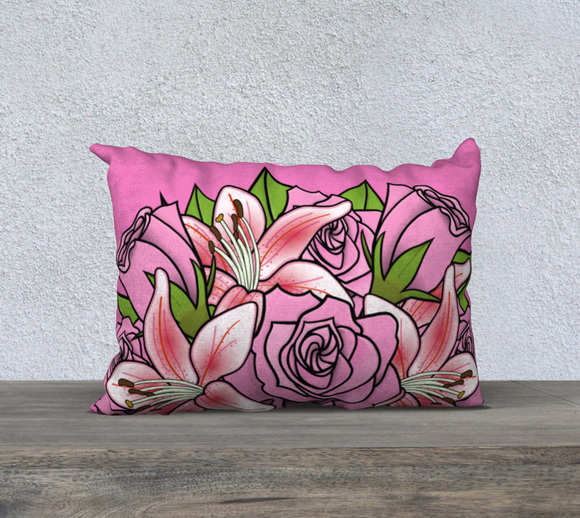 Bouquet of Flowers Pillow Case 20