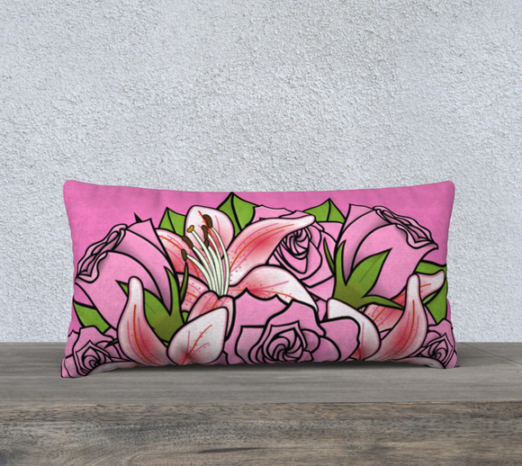 Bouquet of Flowers Pillow Case 24