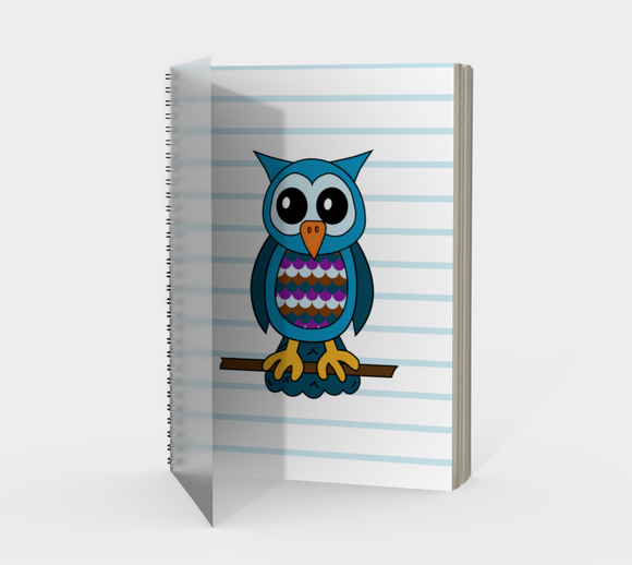 Oliver the Owl Spiral Notebook
