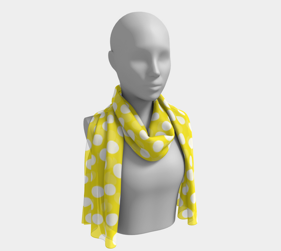 All About the Dots Long Scarf - Yellow