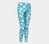 All About the Dots Youth Leggings - Blue