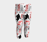 For the Love of Hockey Baby Leggings - Red