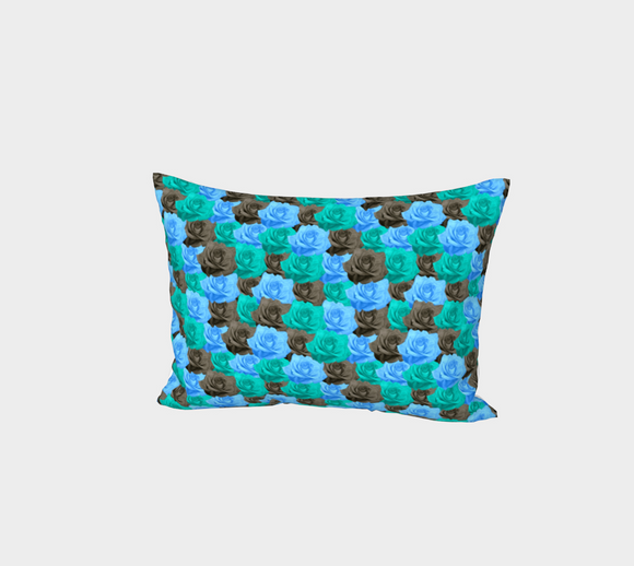 Blue Roses Bed Pillow Sham