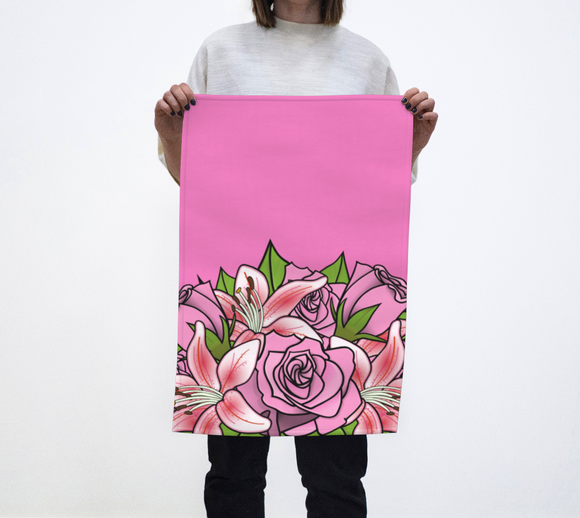 Bouquet of Flowers Tea Towel