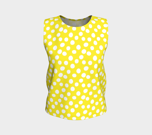 All About the Dots Loose Tank Top - Yellow (Regular)