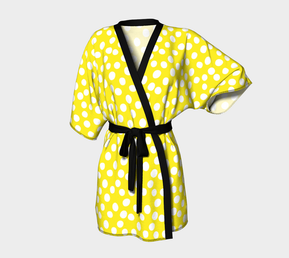 All About the Dots Kimono Robe - Yellow