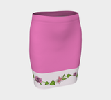Bouquet of Flowers Fitted Skirt