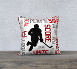 "For the Love of Hockey Pillow Case - 18""x18"" - Customizable"