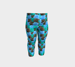 Blue Roses Baby Leggings
