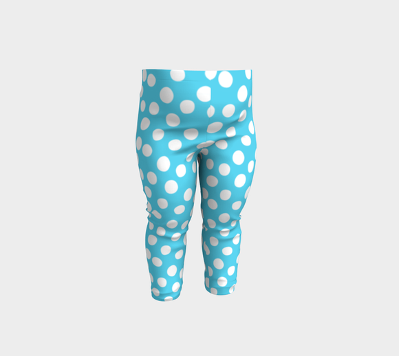 All About the Dots Baby Leggings - Blue