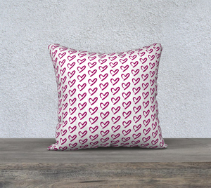 "Falling For You Hearts Pillow Case - 18""x18"""