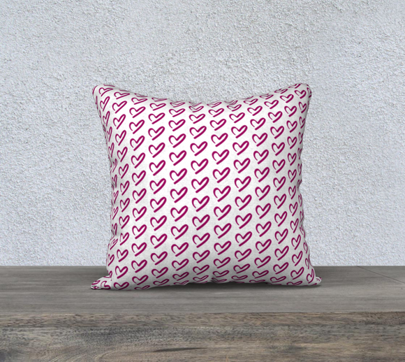 Falling For You Hearts Pillow Case - 18