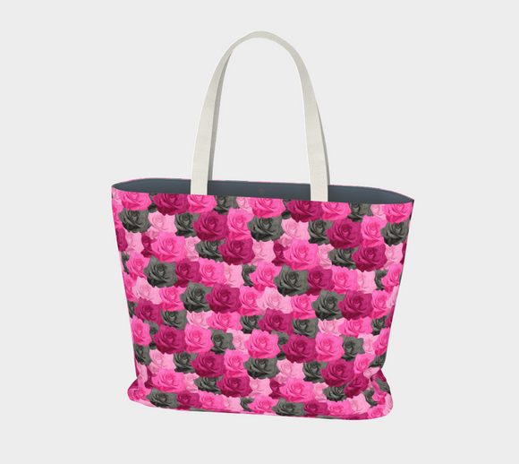 Pink Roses Market Tote