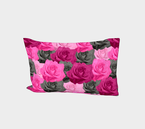 Pink Roses Bed Pillow Sleeve