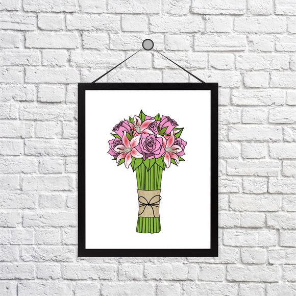 Bouquet of Flowers Print