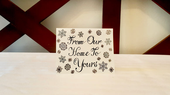 From Our Home to Yours Greeting Card