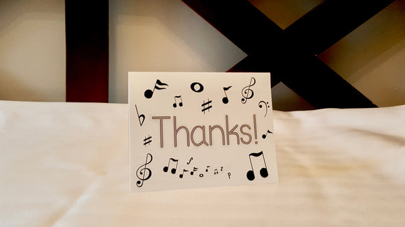 Musical Thanks Greeting Card