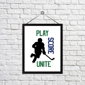 For the Love of Hockey Print - Customizable
