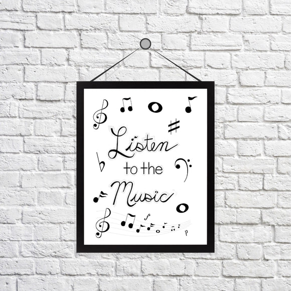 Listen to the Music Print