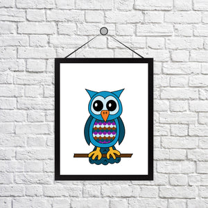 Oliver the Owl Print