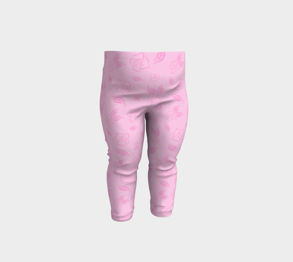 Cartoon Rose Baby Leggings